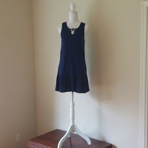 Kate Spade Blue With White Trim Dress